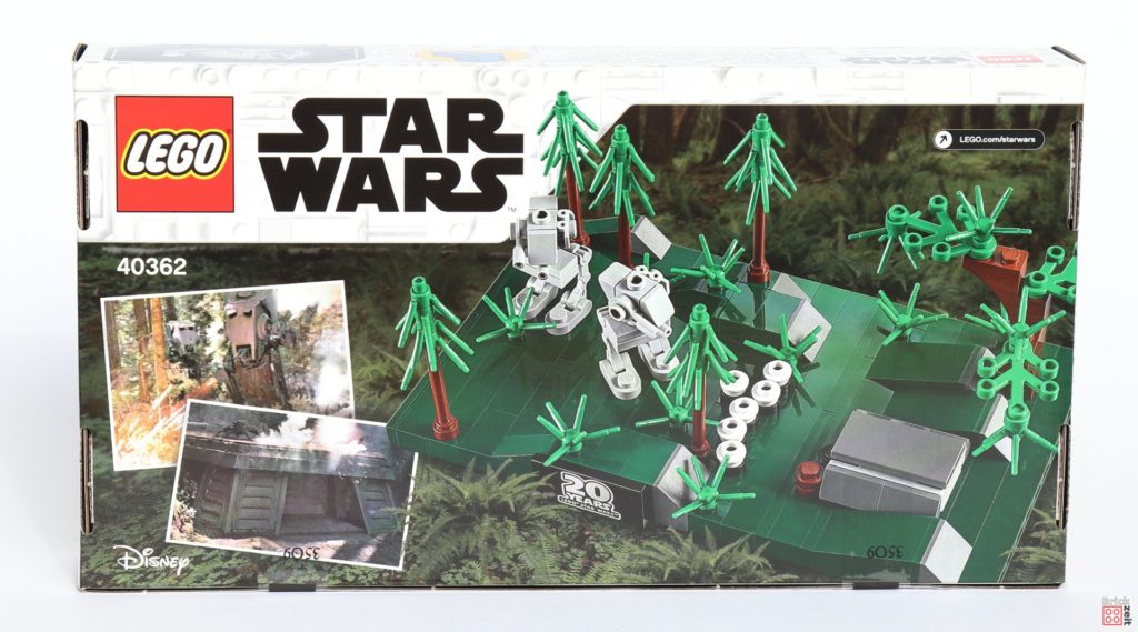 LEGO® Star Wars™ 40362 Schlacht von Endor - Packung Rückseite | ©2019 Brickzeit