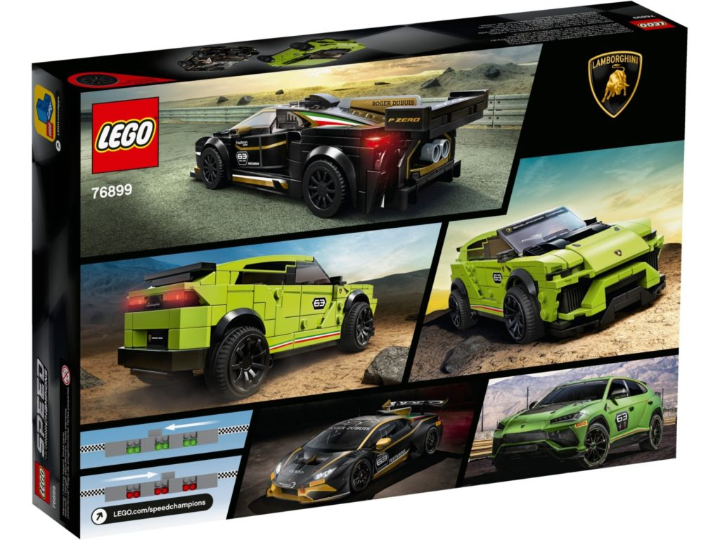 LEGO® Speed Champions 76899 Lamborghini Huracán Super Trofeo EVO & Urus ST-X | ©LEGO Gruppe