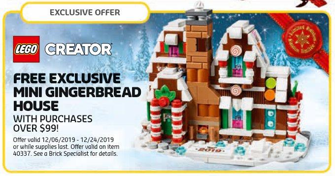 LEGO Store Kalender Dezember 2019 USA - Mini-Lebkuchenhaus (40337) | ©LEGO Gruppe