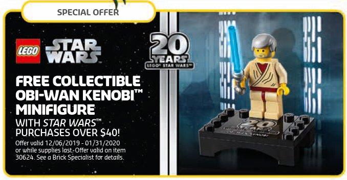 LEGO Store Kalender Dezember 2019 USA - Obi-Wan Kenobi (30624) | ©LEGO Gruppe