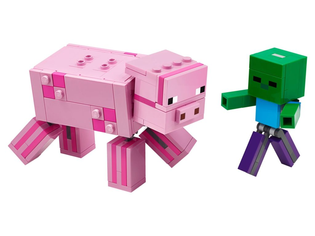 LEGO® Minecraft 21157 BigFig Pig with Baby Zombie | ©LEGO Gruppe