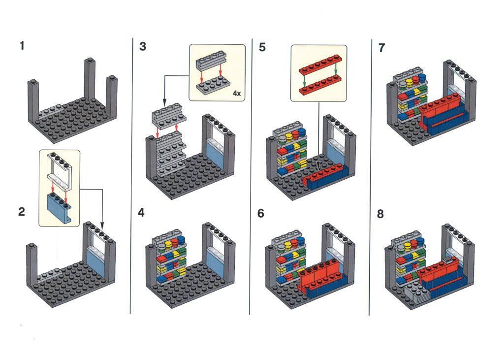 Bauanleitung LEGO Zeitungskiosk aus Bauaktion vom 09.01.2020 - Seite 2 | ©LEGO Gruppe