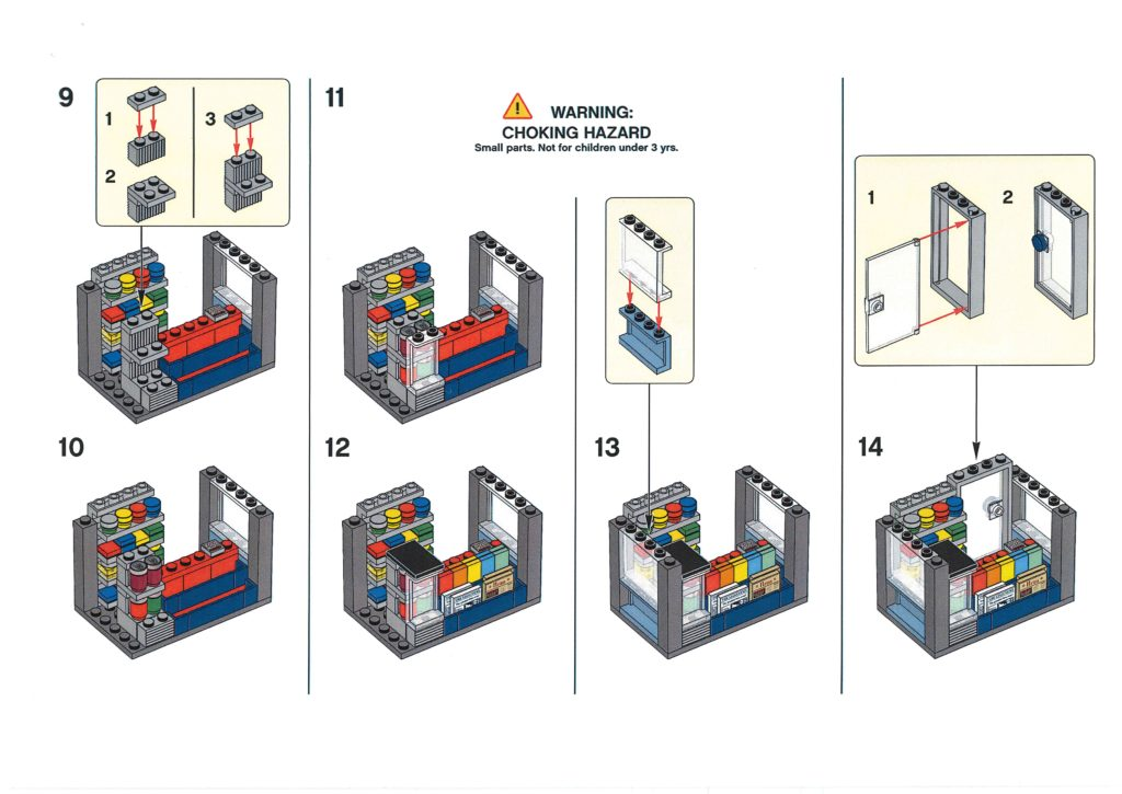 Bauanleitung LEGO Zeitungskiosk aus Bauaktion vom 09.01.2020 - Seite 3 | ©LEGO Gruppe