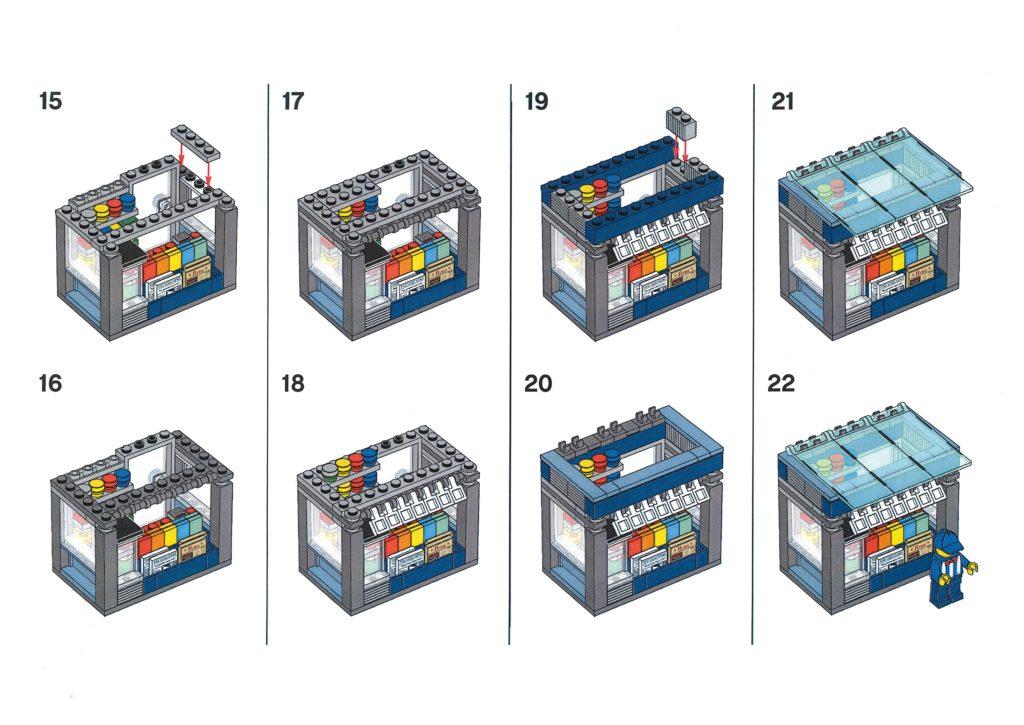 Bauanleitung LEGO Zeitungskiosk aus Bauaktion vom 09.01.2020 - Seite 4 | ©LEGO Gruppe