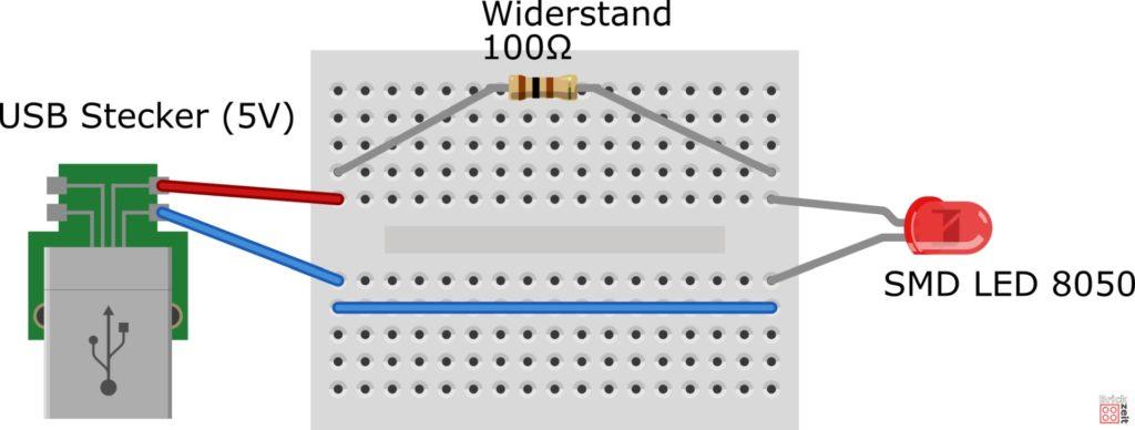 Steckbrett-Schaltung für LED LEGO Lichtschwert - fritzing | Brickzeit