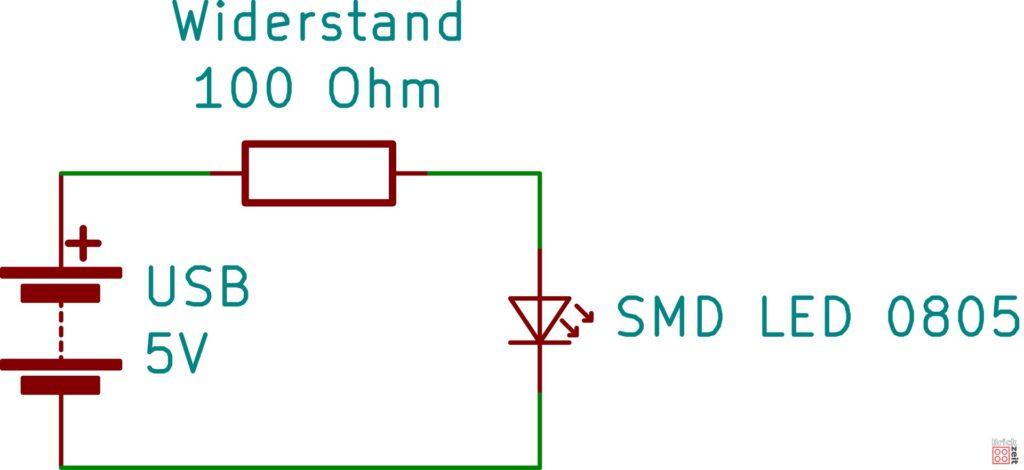 Schematische Schaltung für LED LEGO Lichtschwert - KiCAD | Brickzeit