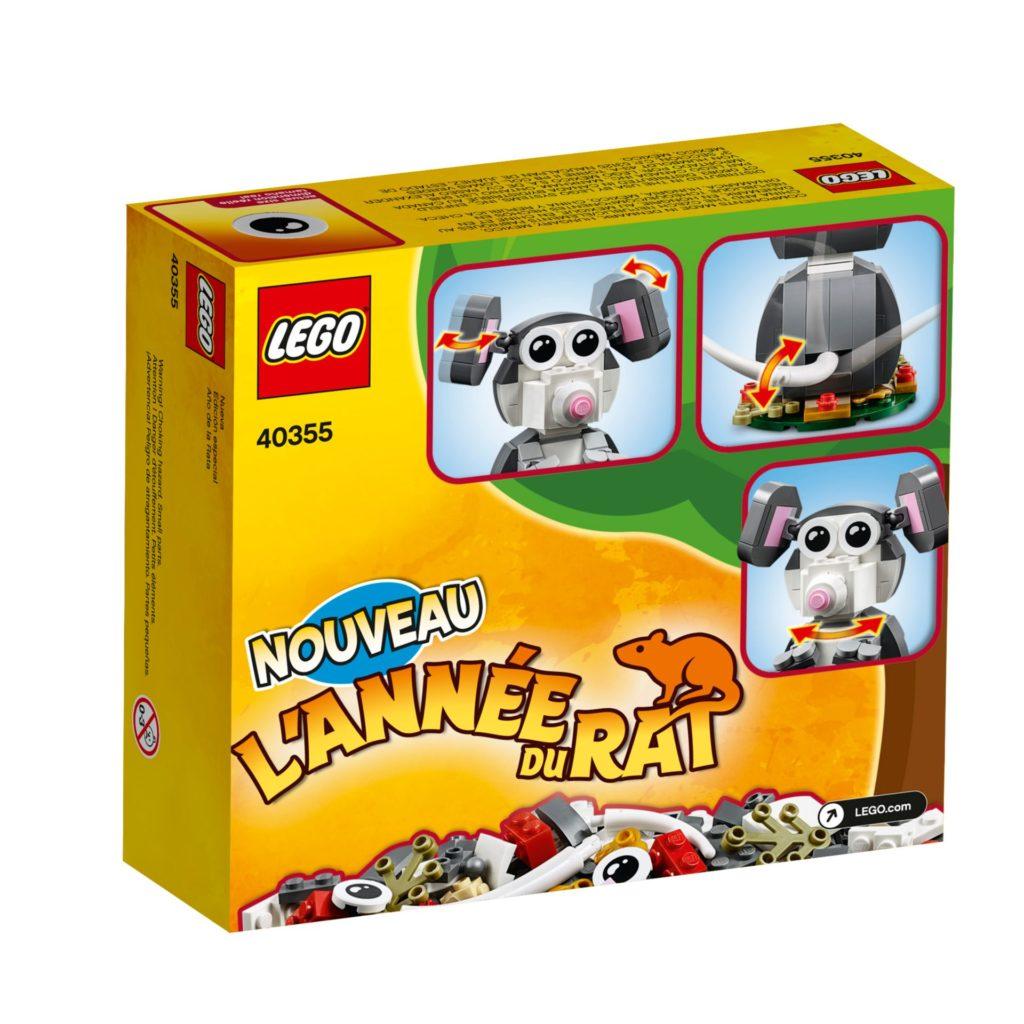 LEGO® 40355 Jahr der Ratte - Packung, Rückseite | ©LEGO Gruppe