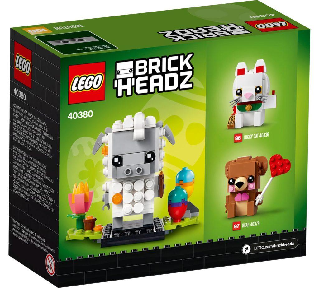 LEGO® Brickheadz 40380 Schaf - Packung, Rückseite | ©LEGO Gruppe
