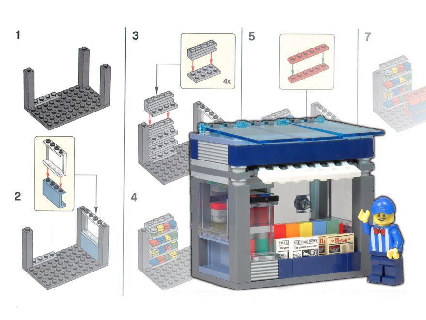 LEGO Zeitungskiosk - Bauanleitung, Teileliste und Review - Titelbild | ©2020 Brickzeit