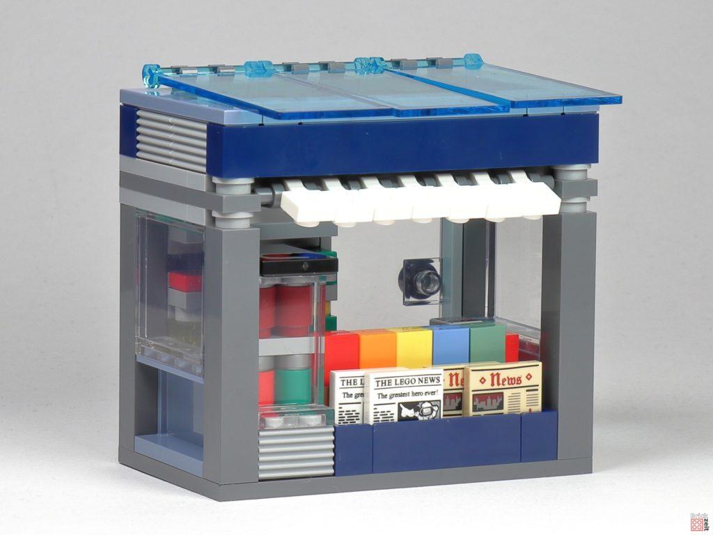 LEGO Zeitungskiosk - Vorderseite | ©2020 Brickzeit