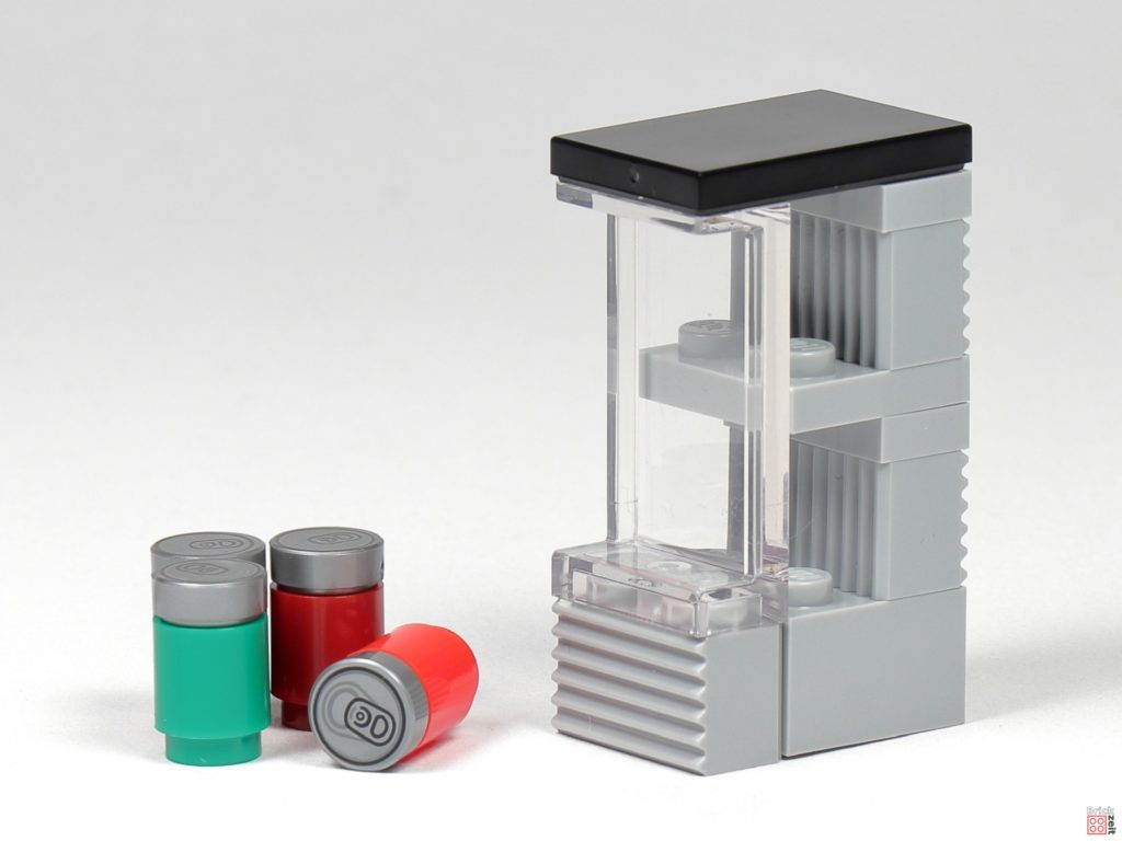 LEGO Zeitungskiosk - Dosen und Kühlschrank | ©2020 Brickzeit