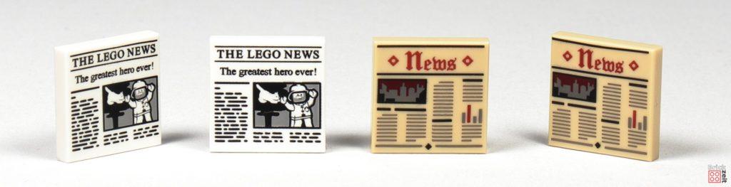 LEGO Zeitungskiosk - Zeitungs-Fließen | ©2020 Brickzeit