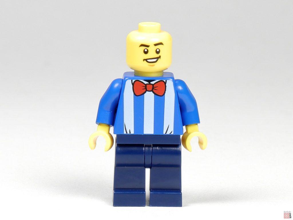 LEGO Zeitungskiosk - Zeitungsverkäufer, Vorderseite | ©2020 Brickzeit