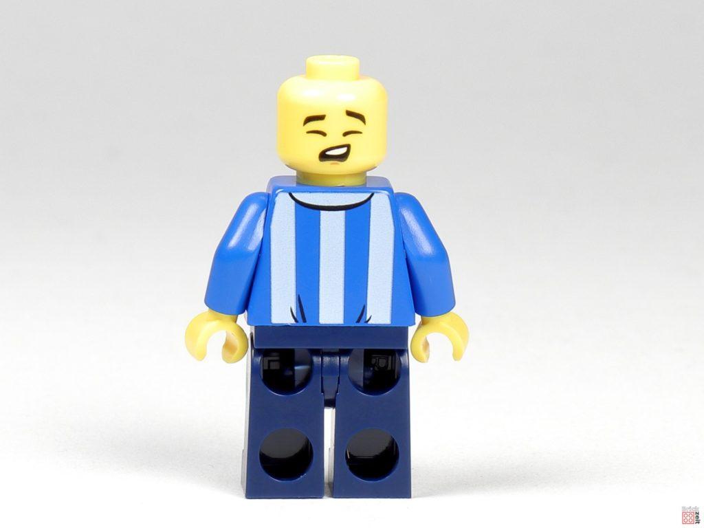 LEGO Zeitungskiosk - Zeitungsverkäufer, Rückseite mit alternativem Gesicht | ©2020 Brickzeit