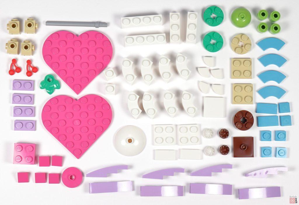 LEGO® Friends 30411 Pralinenschachtel & Blume - Polybag-Inhalt | ©2020 Brickzeit