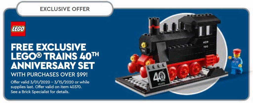 LEGO 40370 40 Jahre LEGO Züge | ©LEGO Gruppe