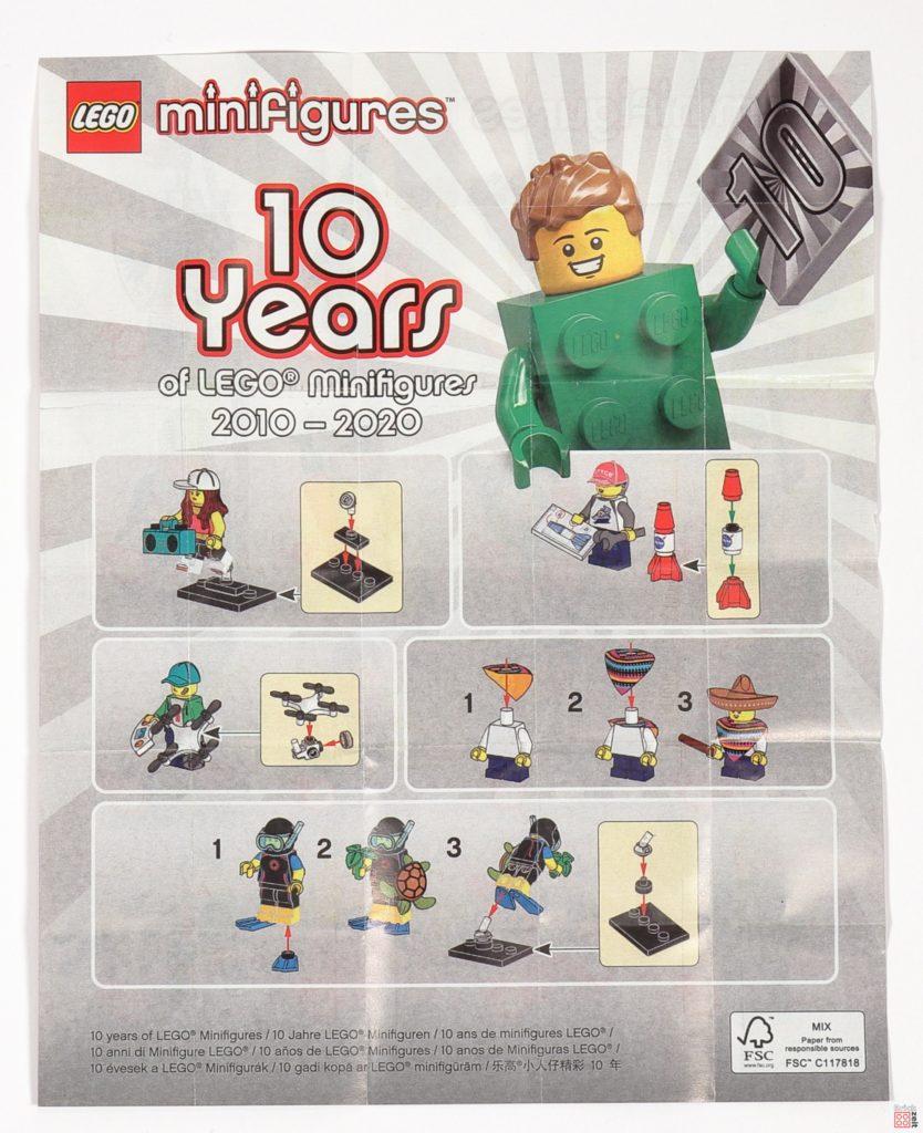 LEGO® 71027 Minifiguren Serie 20 - Anleitung, Rückseite | ©2020 Brickzeit