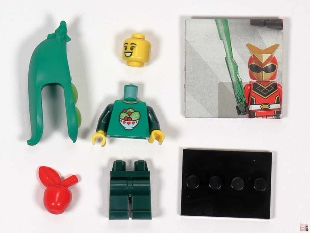 LEGO 71027 - Minifigur Nr. 3 - Mädchen im Erbsenschotenkostüm | ©2020 Brickzeit