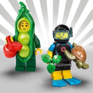 LEGO 71027 - Mädchen im Erbsenkostüm und Taucherin | LEGO Gruppe