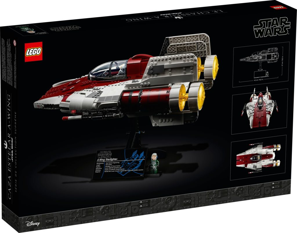 LEGO Star Wars 75275 UCS A-Wing - Packung, Rückseite | ©LEGO Gruppe