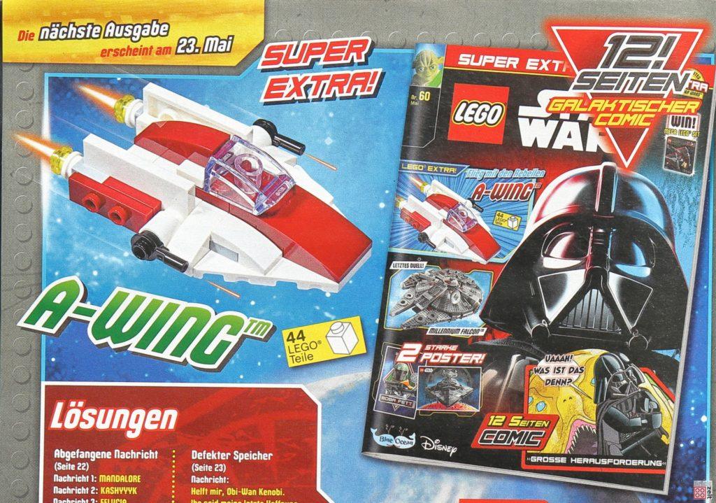 Heftvorschau auf A-Wing im LEGO Star Wars Magazin 60| ©Brickzeit
