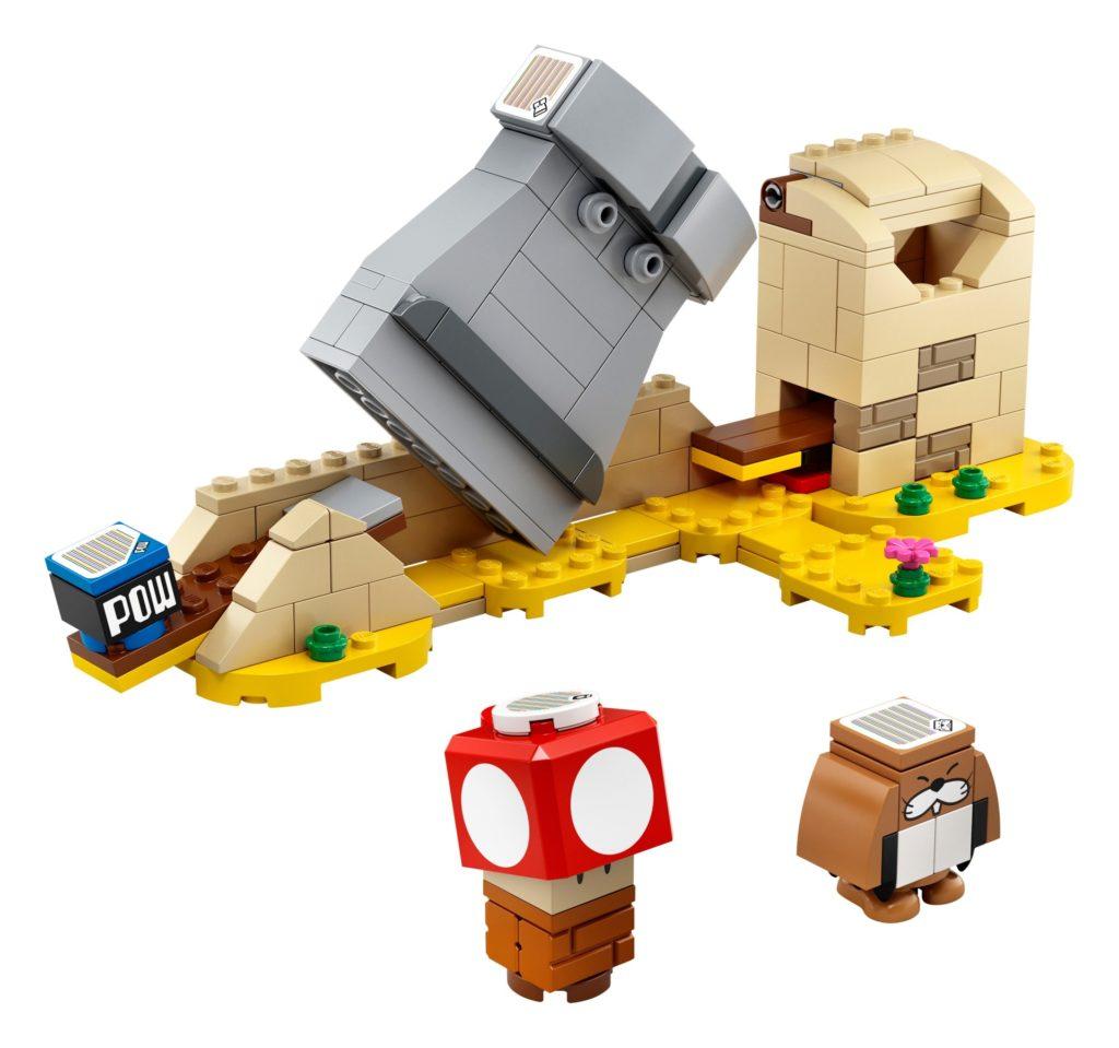 LEGO Super Mario 40414 Monty Mailwurf und Superpilz - Erweiterungsset | ©LEGO Gruppe