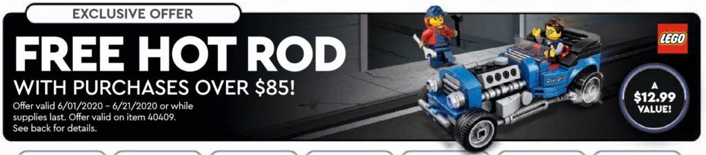 LEGO 40409 Hot Rod im amerikanischen LEGO Store Kalender | ©LEGO Gruppe