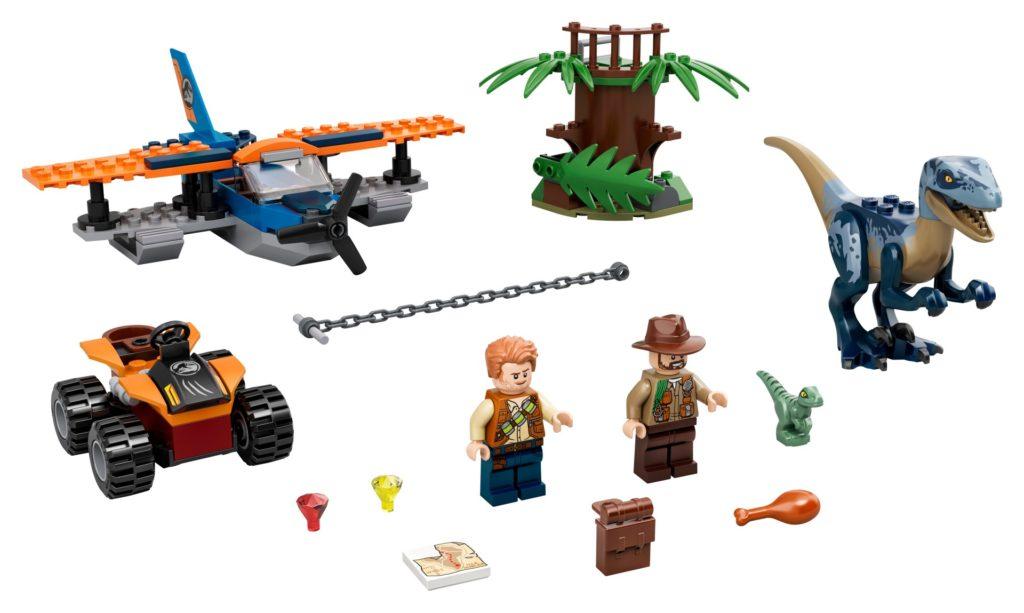 LEGO Jurassic World 75942 Velociraptor: Rettungsmission mit dem Doppeldecker | ©LEGO Gruppe
