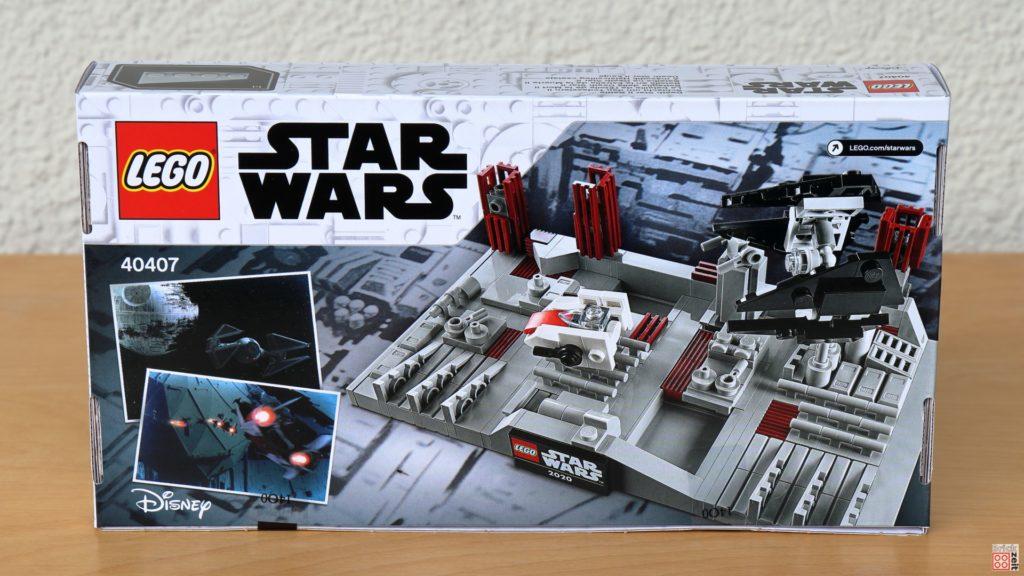 LEGO Star Wars 40407 Schlacht um den zweiten Todesstern - Packung, Rückseite | ©2020 Brickzeit