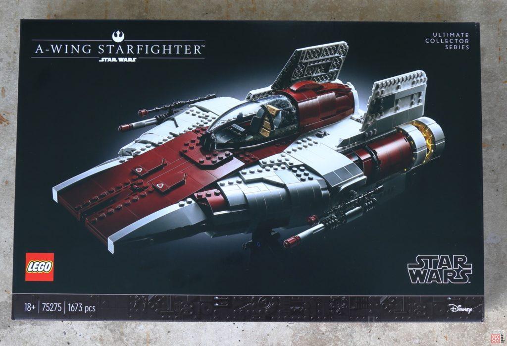 LEGO Star Wars 75275 UCS A-Wing - Packung, Oberseite | ©2020 Brickzeit