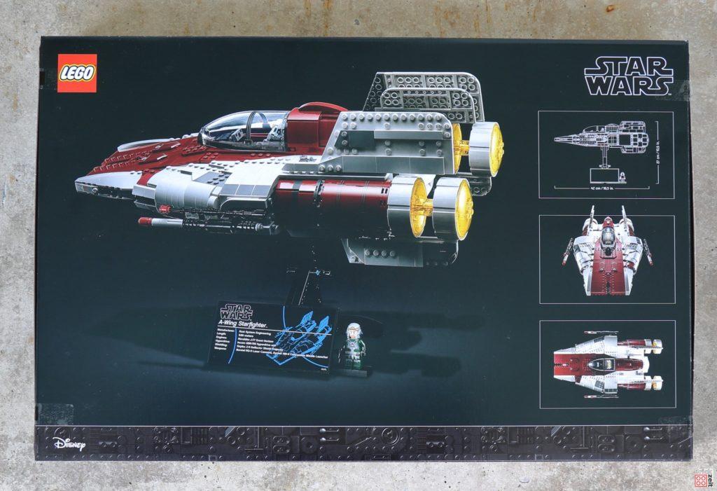 LEGO Star Wars 75275 UCS A-Wing - Packung, Rückseite | ©2020 Brickzeit