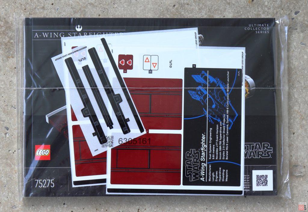 LEGO Star Wars 75275 UCS A-Wing - verpackte Anleitung | ©2020 Brickzeit