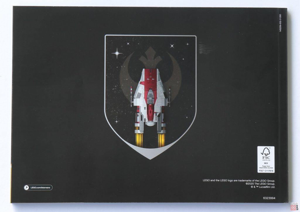 LEGO Star Wars 75275 UCS A-Wing - Anleitung, Rückseite | ©2020 Brickzeit