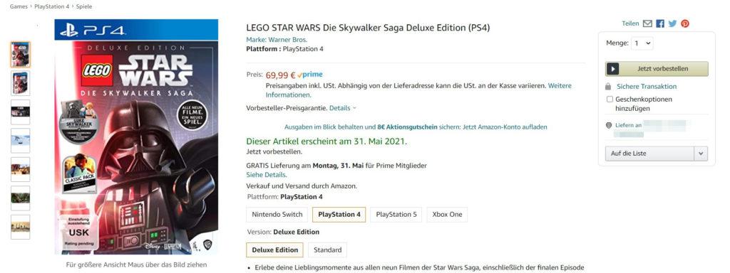 Vorbestellbar! Deluxe-Edition von LEGO Star Wars Die Skywalker Saga