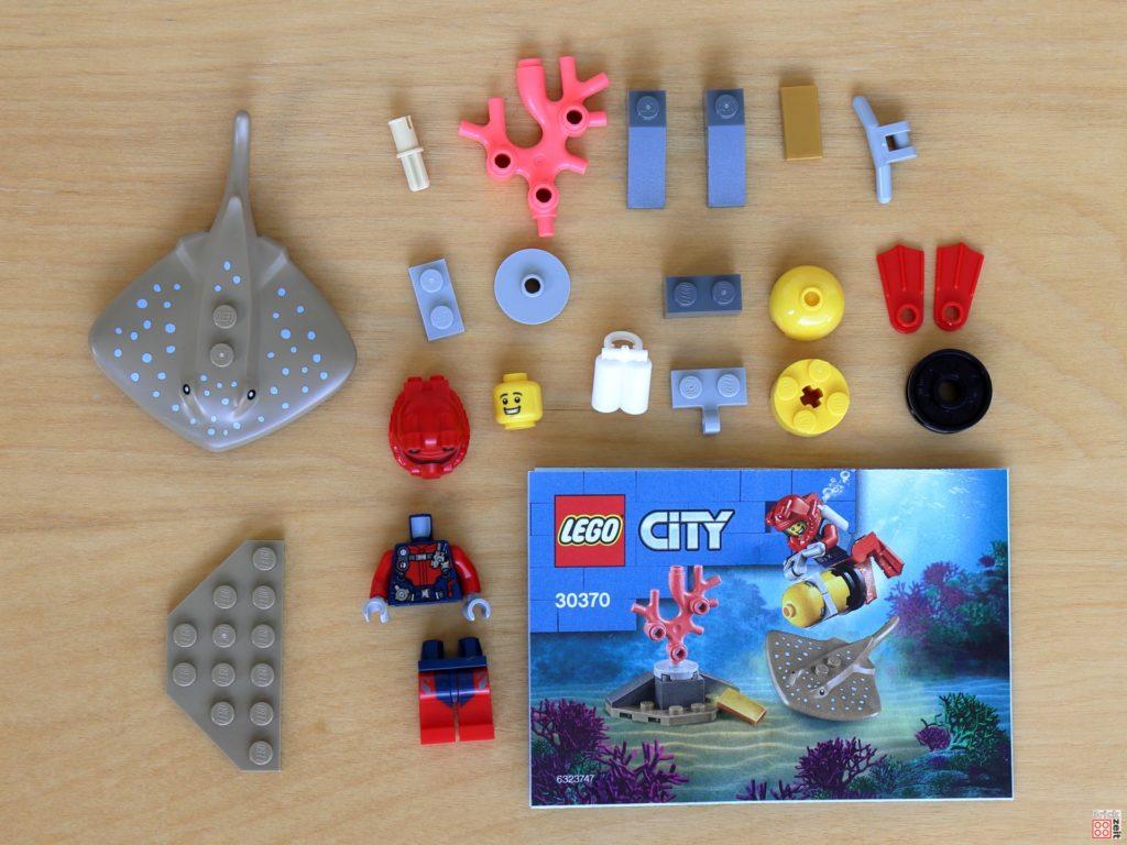 LEGO City 30370 Tiefseetaucher Polybag Inhalt | ©Brickzeit