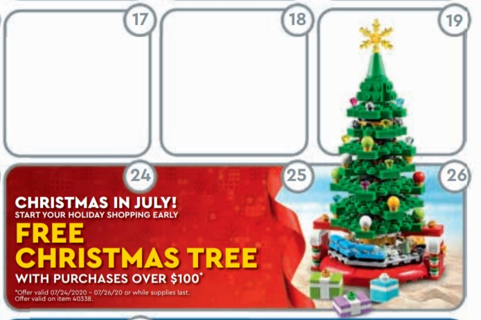 LEGO 40338 Christmas Tree vom 24.7. bis 26.7.2020 | ©LEGO Gruppe