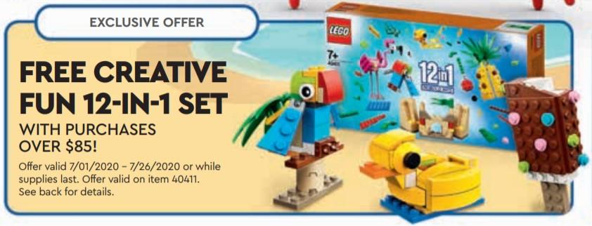 LEGO 40411 Creative Fun 12-in-1 vom 1.7. bis 26.7.2020 | ©LEGO Gruppe