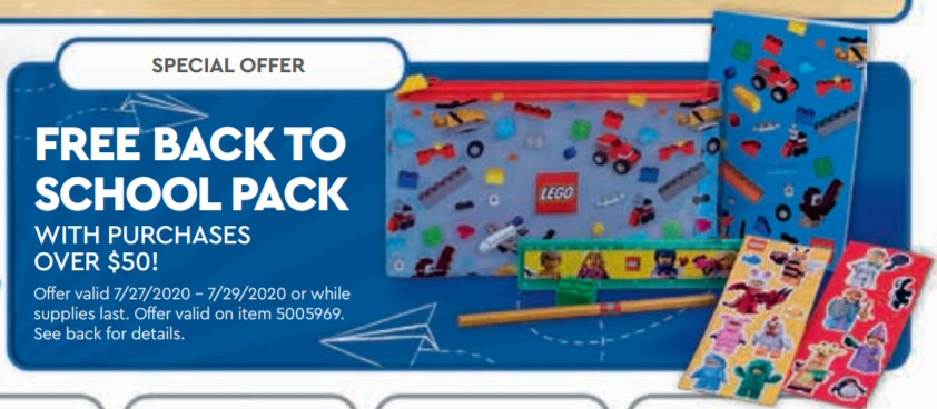 LEGO 5005969 Back to School Pack vom 27.7. bis 29.7.2020 | ©LEGO Gruppe
