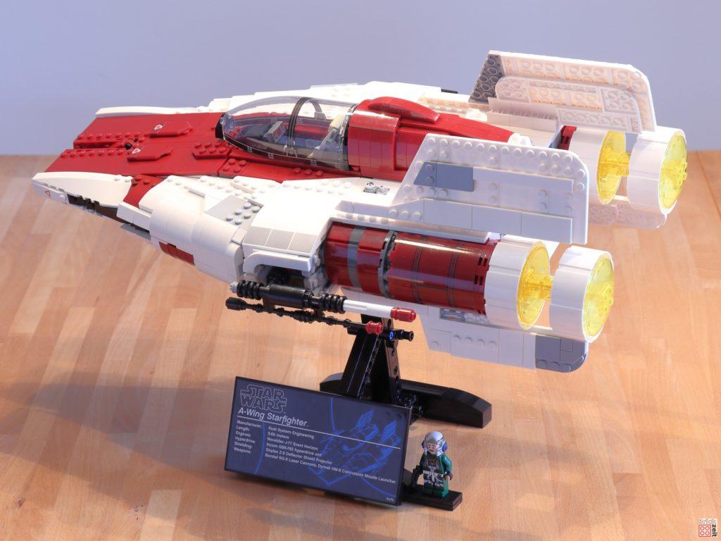 LEGO Star Wars 75275 UCS A-Wing, Baster nach hinten | ©2020 Brickzeit