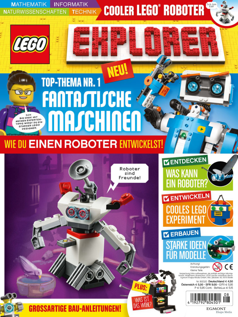 LEGO Explorer Magazin 08/2020 | ©Egmont Ehapa