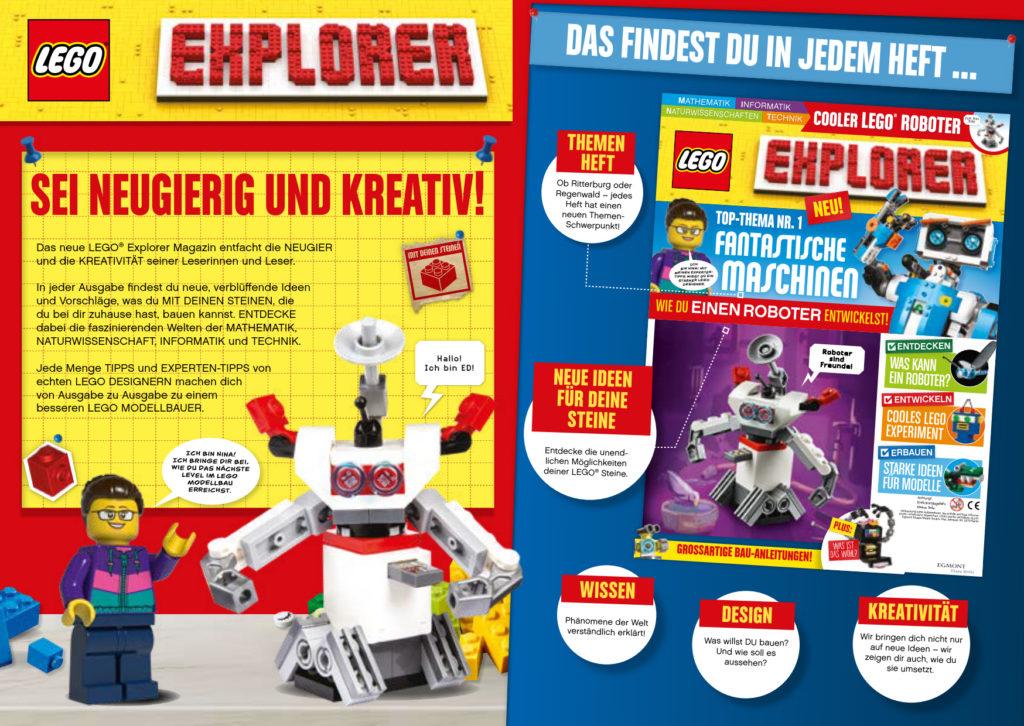 LEGO Explorer Magazin 08/2020 - Leseprobe 1 | ©Egmont Ehapa
