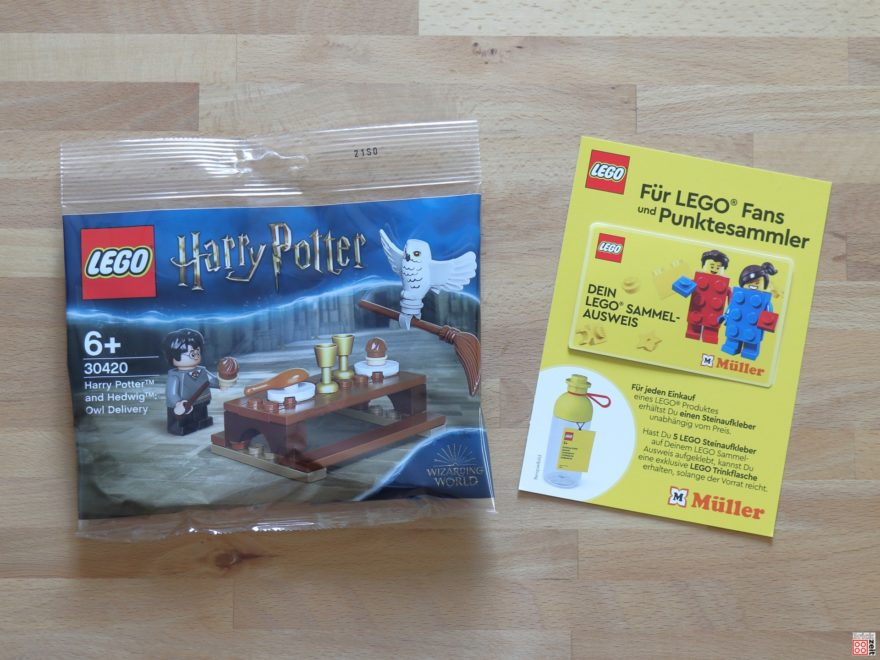 LEGO 30420 Harry Potter und Hedwig Polybag und Sammelausweis | ©Brickzeit