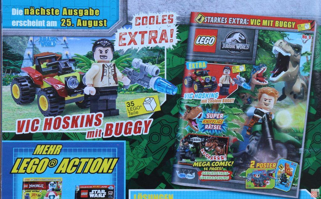 Heftvorschau auf LEGO Jurassic World Magazin Nr. 9 | ©Brickzeit