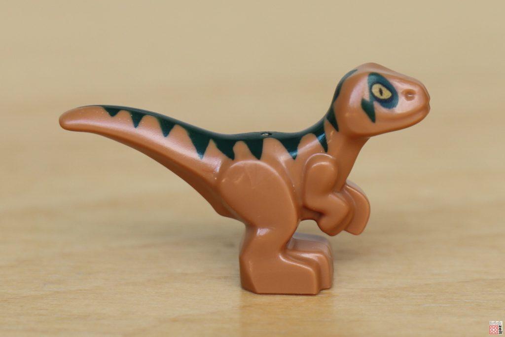 LEGO Jurassic World - Dino-Labor, Baby Raptor rechte Seite | ©Brickzeit