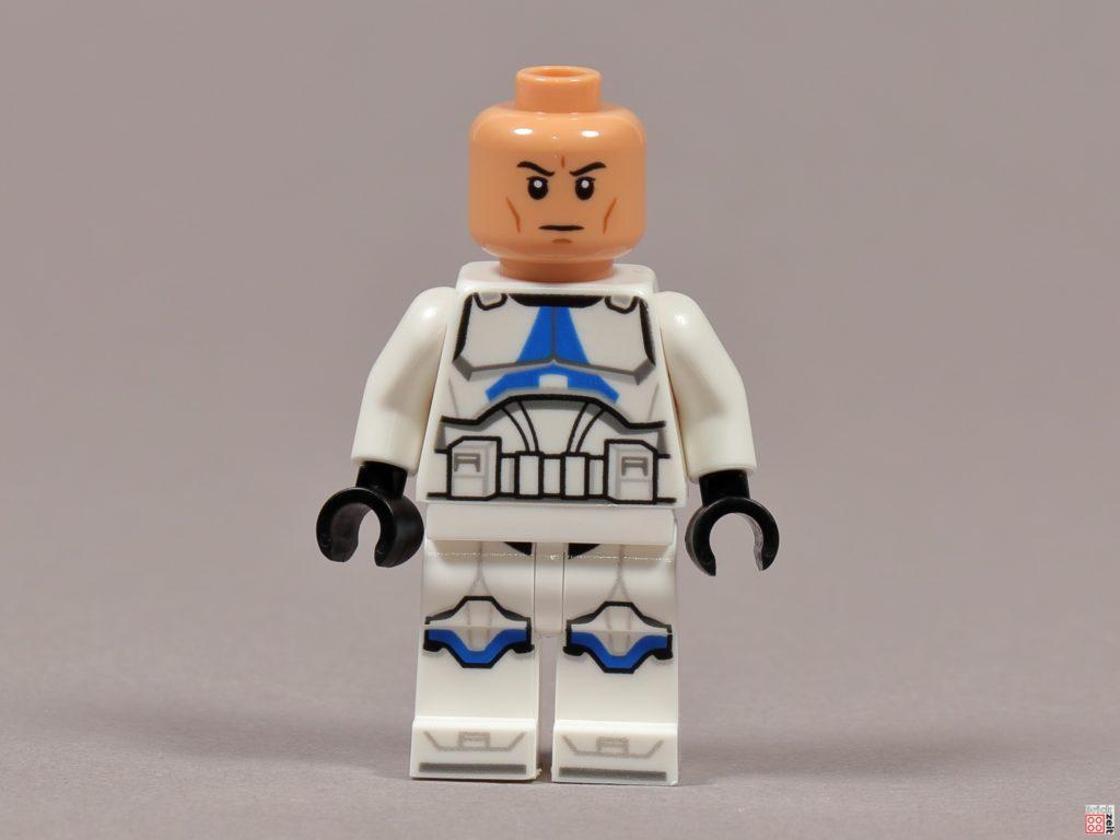 LEGO 75238 - Ashokas Clone Trooper, Vorderseite ohne Helm | ©2020 Brickzeit