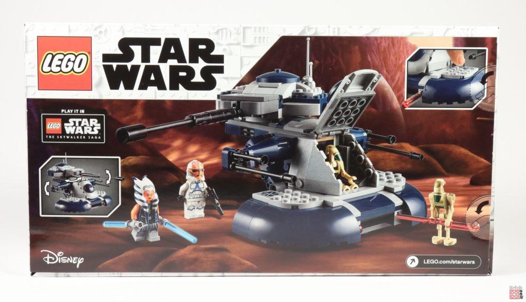 LEGO Star Wars 75283 Armored Assault Tank (AAT) - Packung, Rückseite | ©2020 Brickzeit