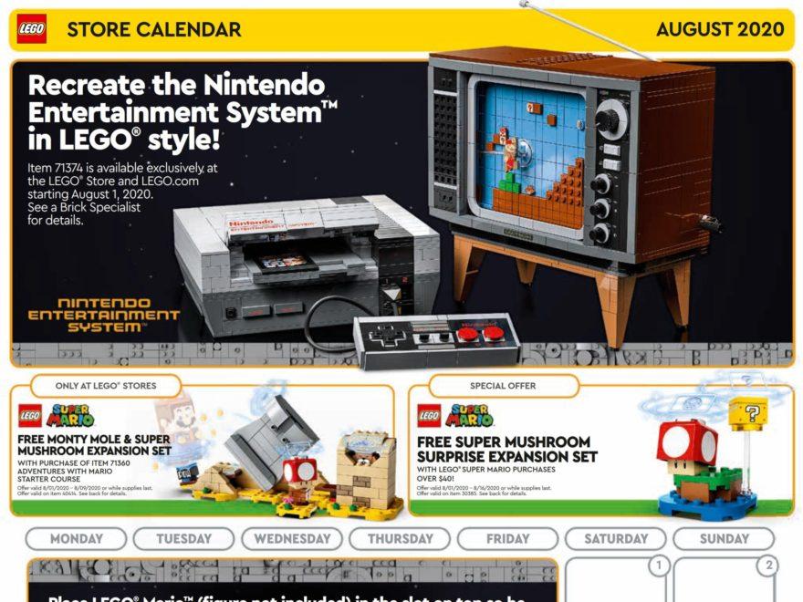 LEGO Store Kalender USA für August 2020 | ©LEGO Gruppe
