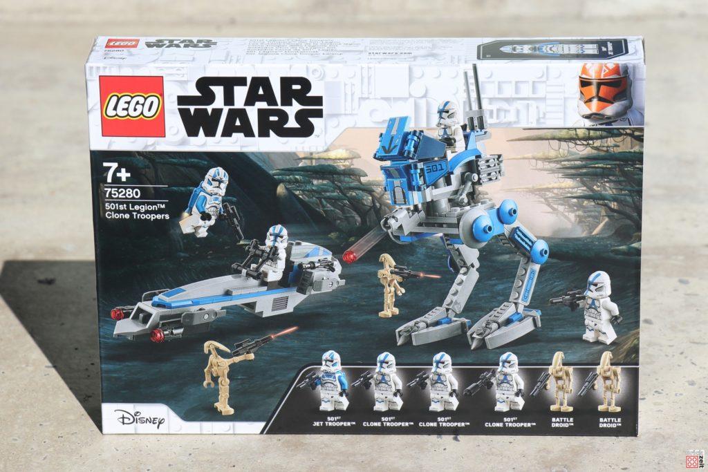 LEGO Star Wars 75280 501st Legion Clone Troopers - Packung, Vorderseite | ©2020 Brickzeit