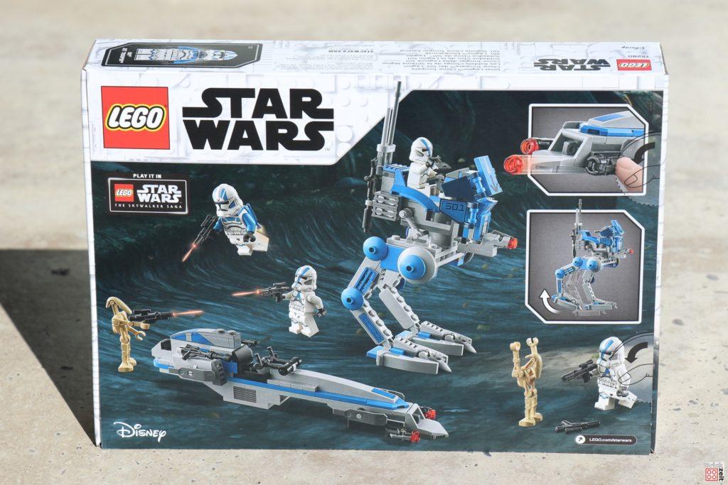 LEGO Star Wars 75280 501st Legion Clone Troopers - Packung, Rückseite | ©2020 Brickzeit