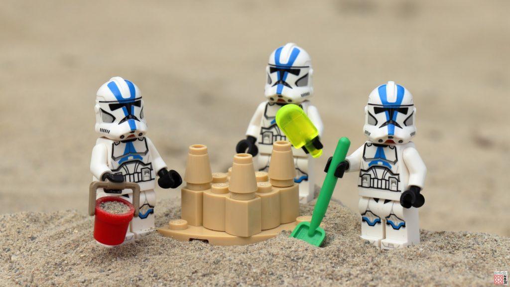 Die Sandburg ist fertig | ©Brickzeit